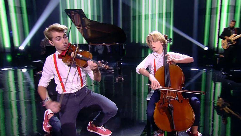 La actuación de Violincheli Brothers en la final de 'Got Talent'