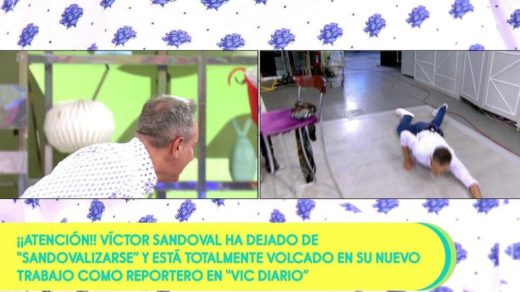 El doble de Víctor Sandoval se cae a su entrada al plató de 'Sálvame'