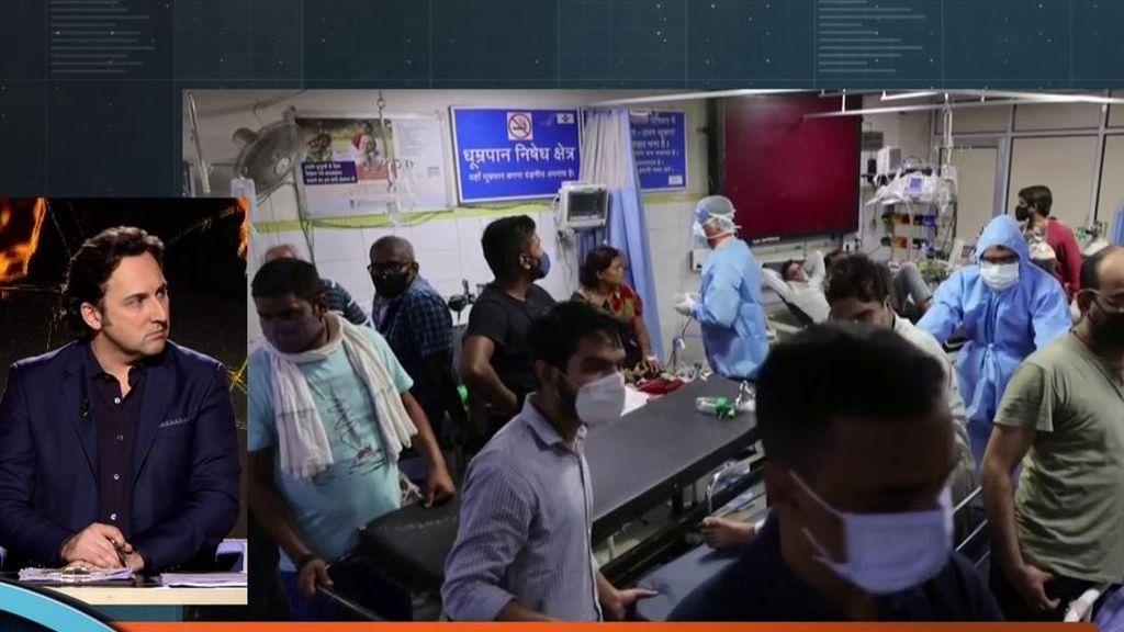 """Miedo ante la nueva cepa de covid en La India: """"Mueren en horas, hay muchos niños en la UCI y hay vacunados graves"""""""