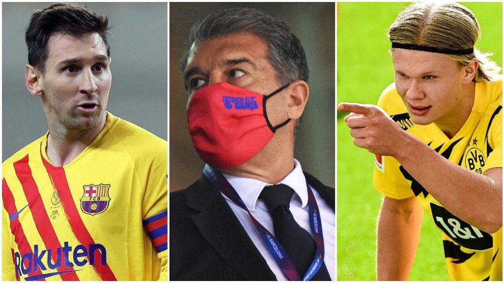 El plan A de Laporta es renovar a Messi y fichar a Haaland.