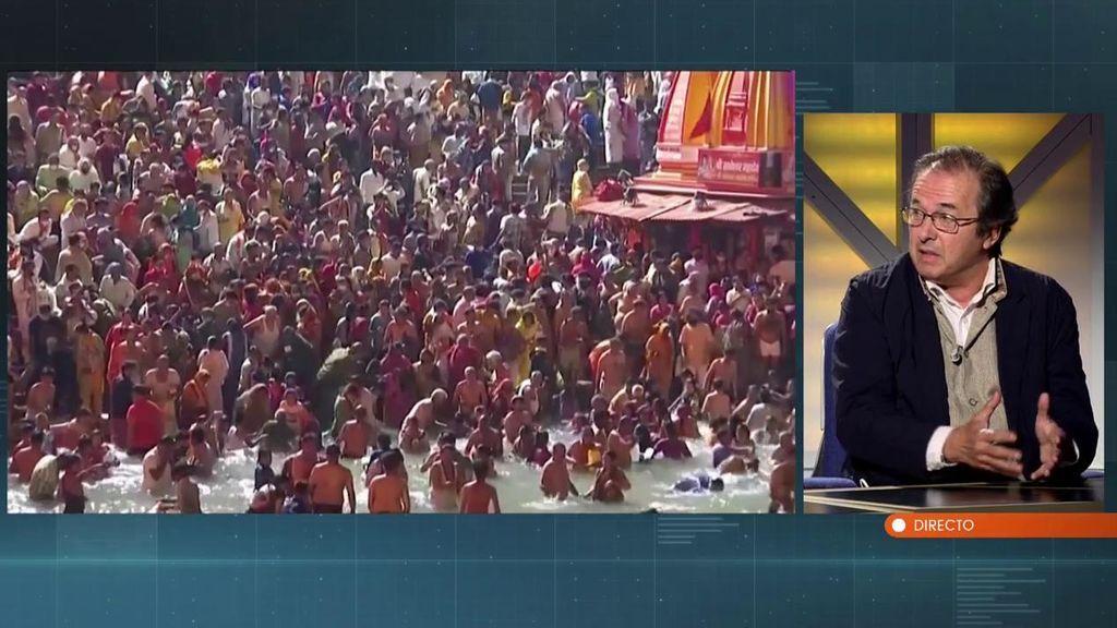 Las increíbles imágenes del festival que reunió a dos millones de personas en India hace unas semanas: ni mascarilla, ni distancia