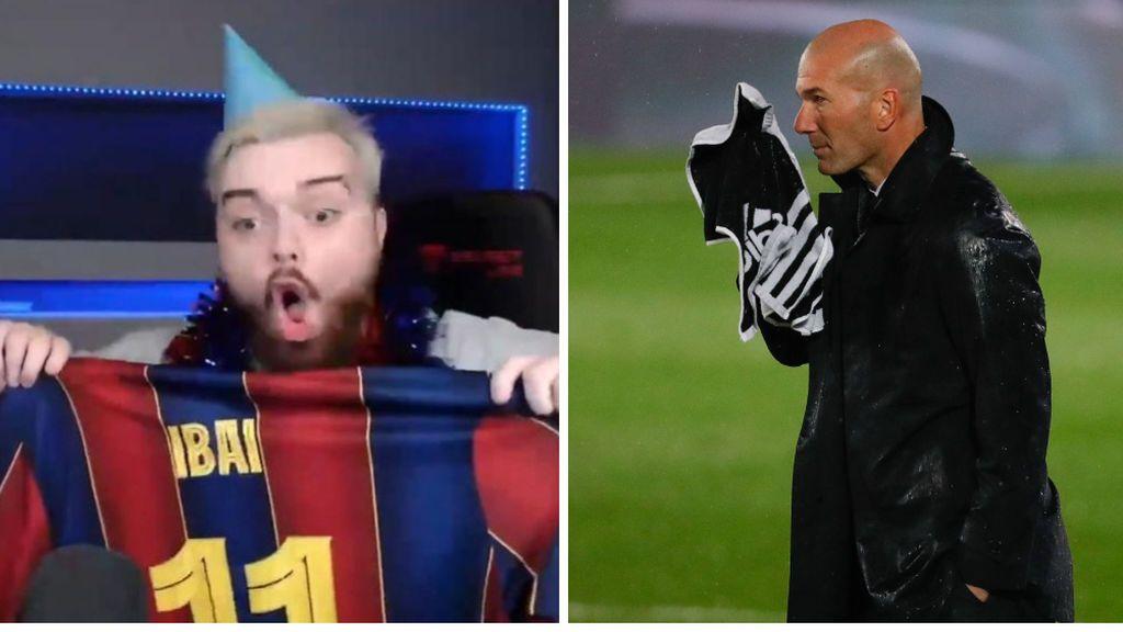 """La promesa de Ibai Llanos si el Real Madrid acaba ganando el doblete: """"Me tatúo la calva de Zidane en directo"""""""