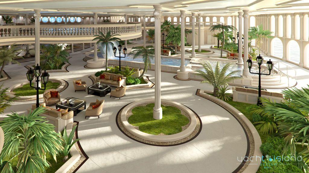 'El oasis', el vestíbulo del yate
