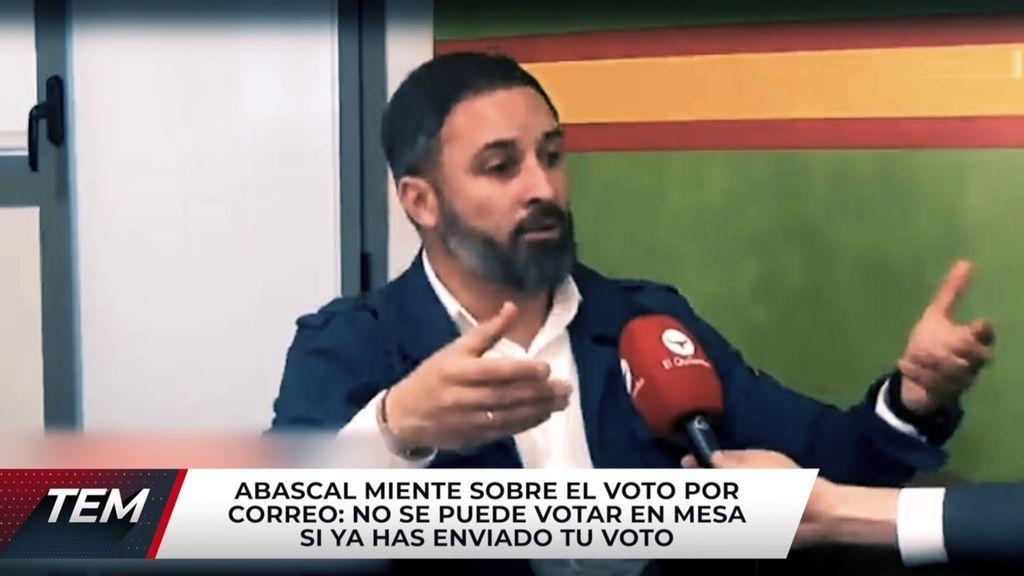 Santiago Abascal rectifica tras mentir y animar a votar dos veces Todo es mentira 2021 Programa 581