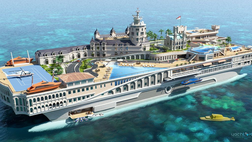 El megayate de 800 millones de euros que recrea el circuito de F1 de Mónaco