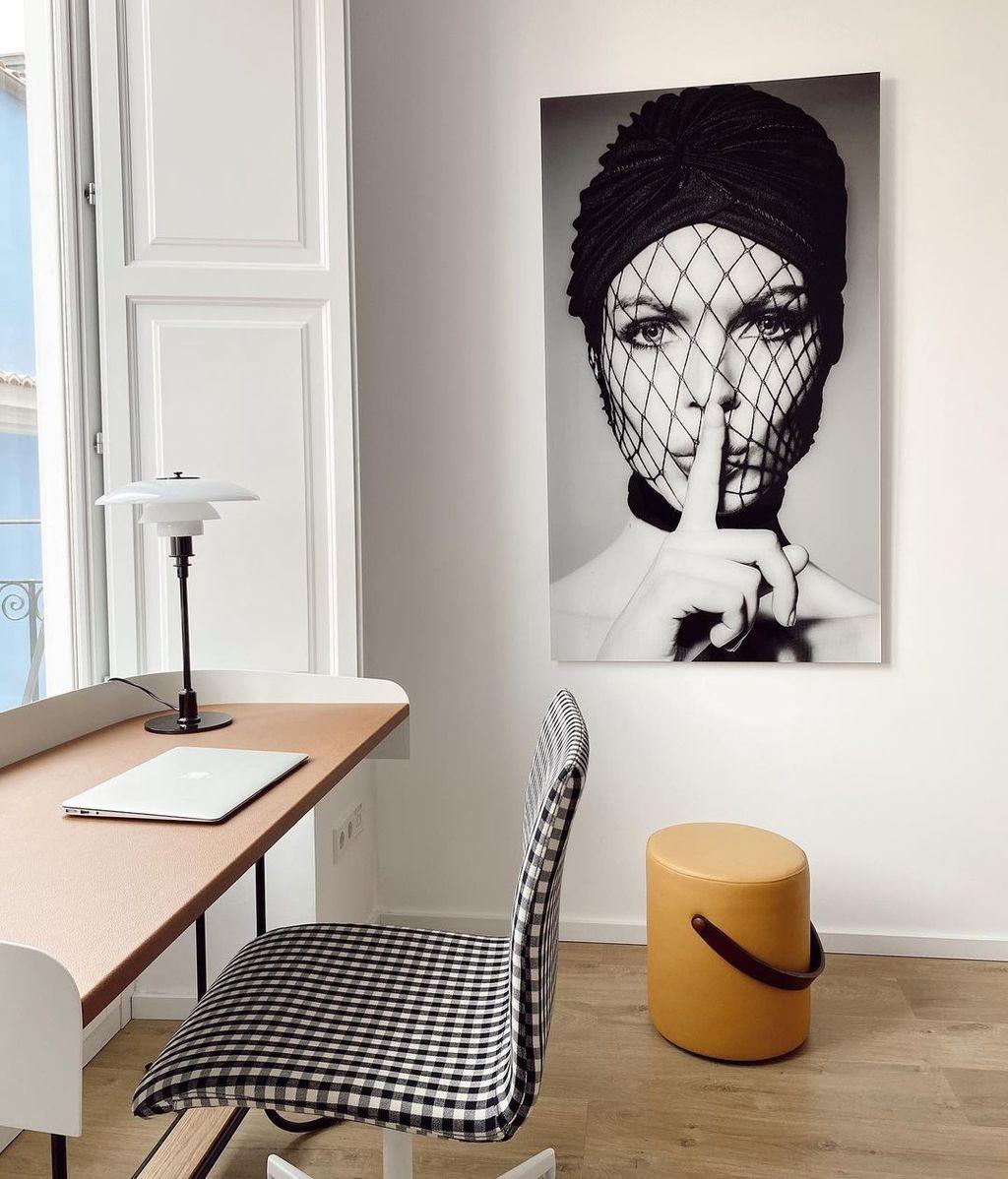 Así es la zona de despacho del piso al que se ha mudado Marta Lozano