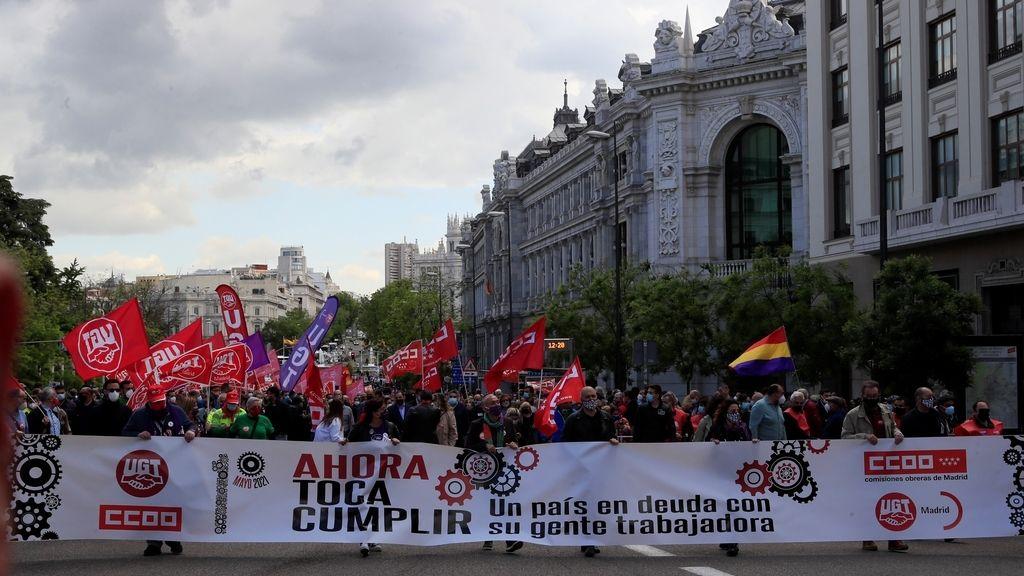 Arranca manifestación del 1 de Mayo, la primera en la calle desde la pandemia