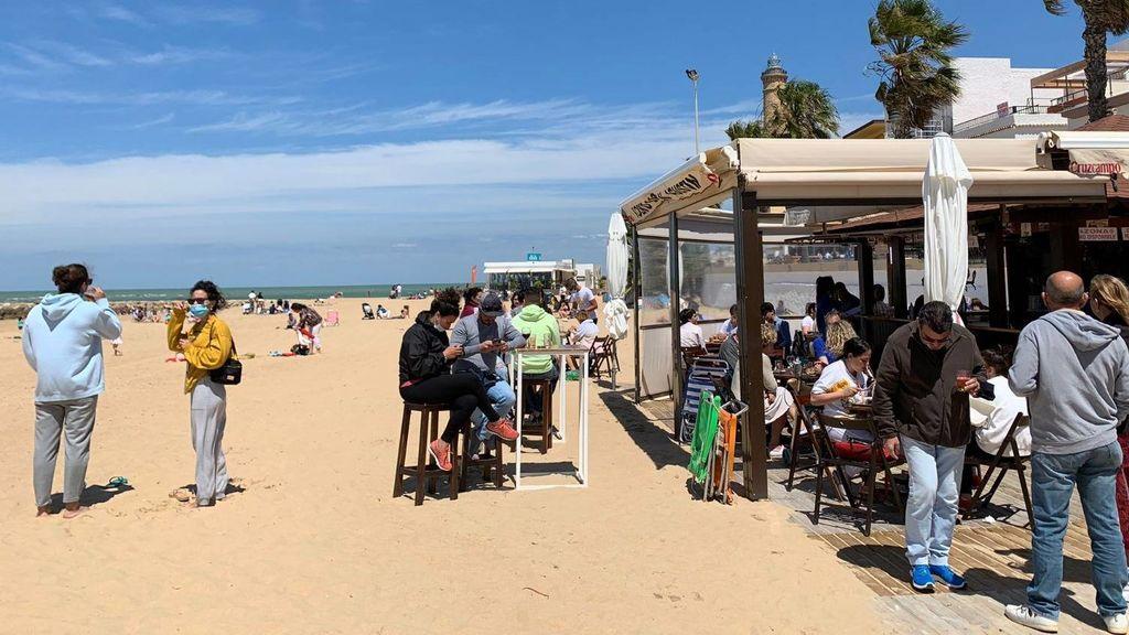 Playas llenas en Torremolinos