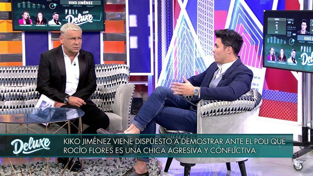 Jorge Javier charla con Kiko Jiménez.