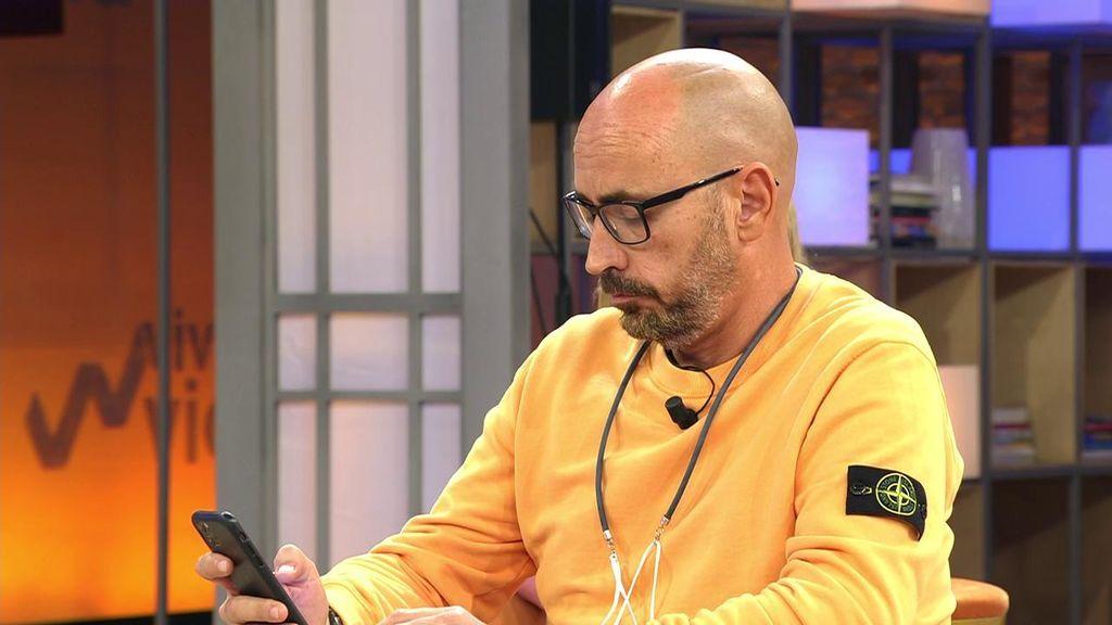 Diego Arrabal recibe en directo un mensaje de Rocío Flores