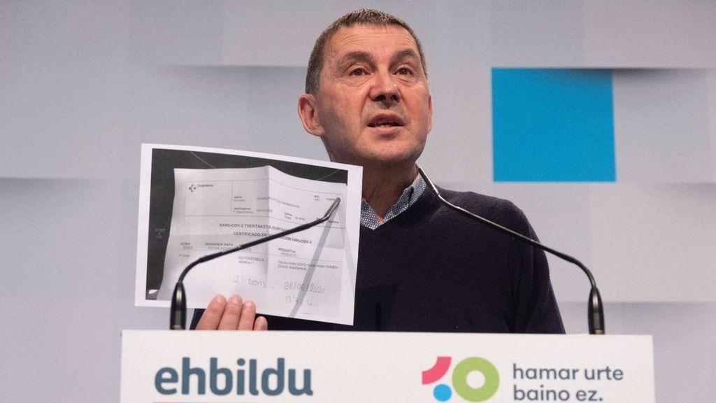 """Otegi pide """"radicalizar la posición"""" de la izquierda ante el """"autoritarismo"""" generado por """"clases medias asustadas"""""""