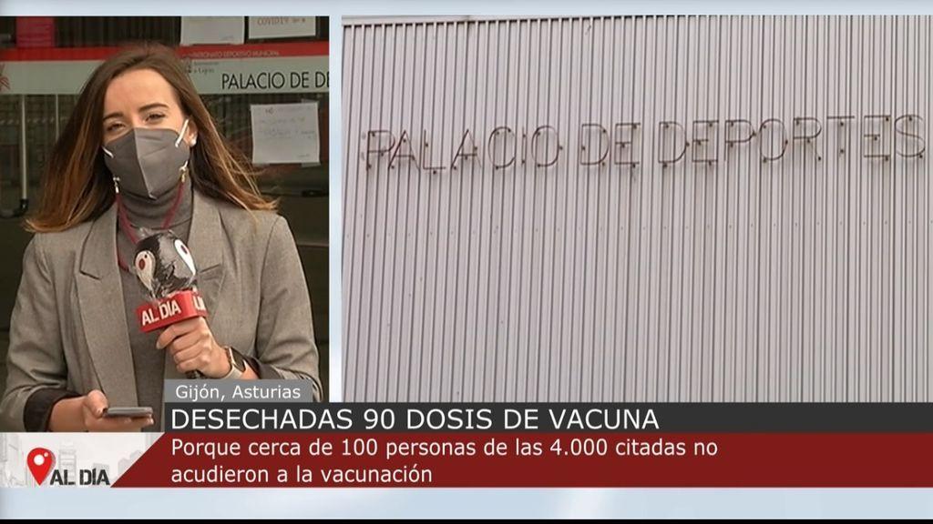 Un error de cálculo echa a perder cerca de un centenar de vacunas en Gijón