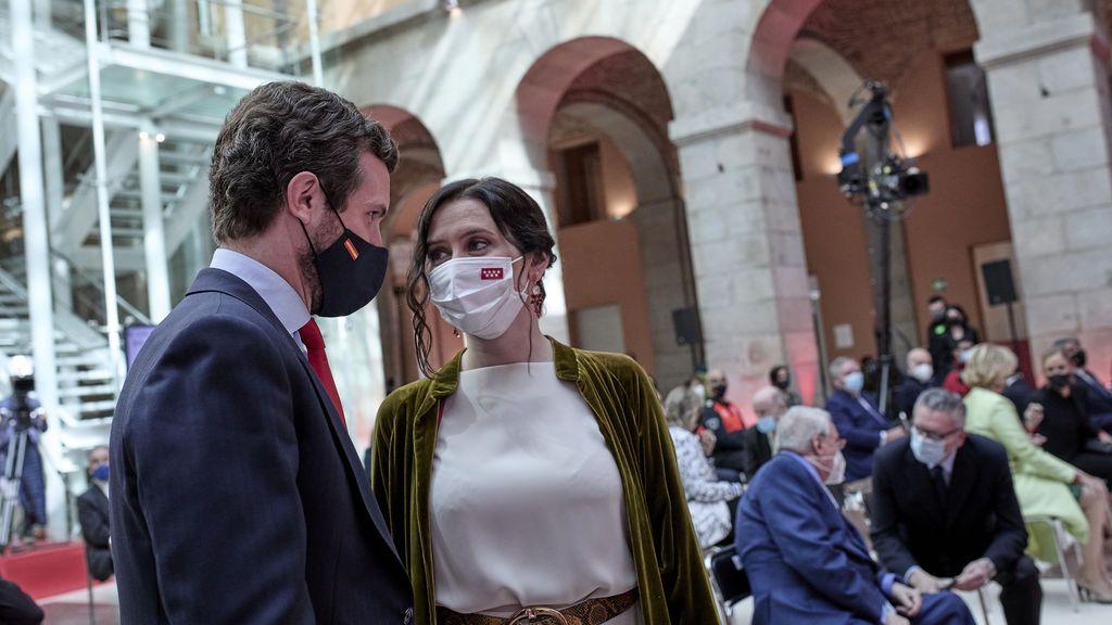 Ayuso y Casado, en el acto institucional del Dos de Mayo