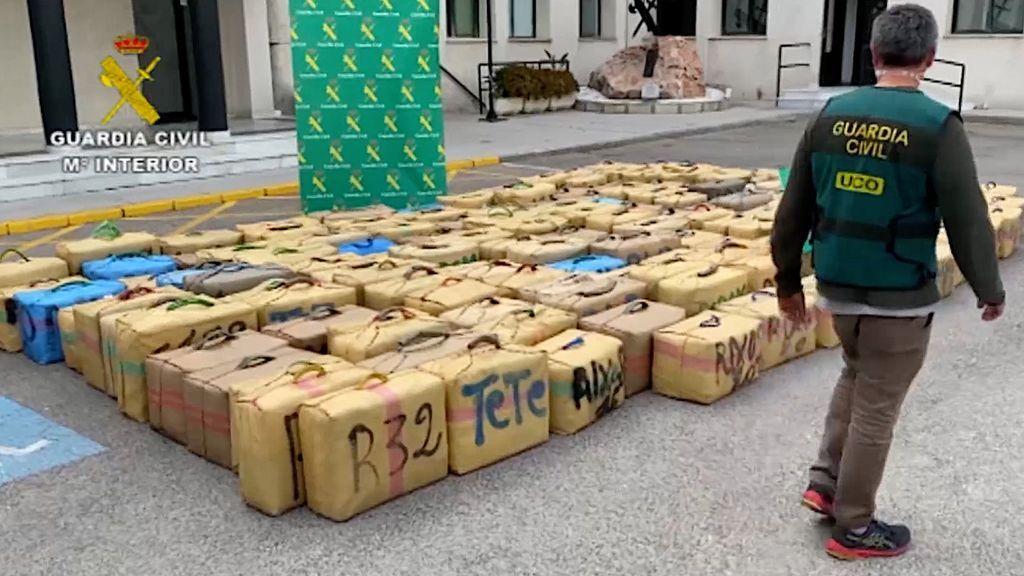 Los 5.000 kilogramos de hachís intervenidos