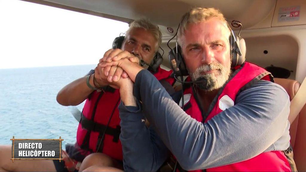 Carlos salta del helicóptero y se convierte en concursante de pleno derecho
