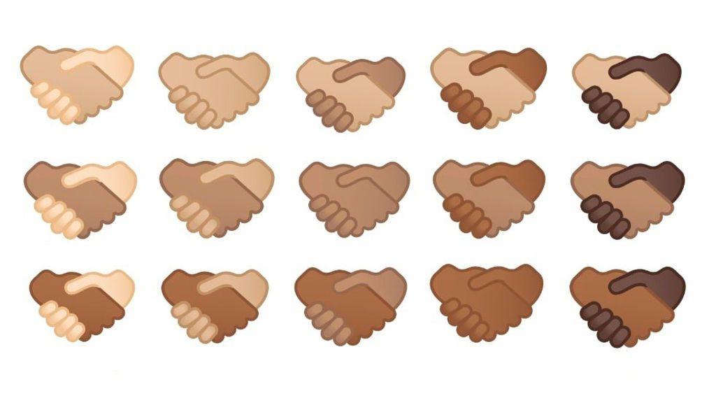 Los 'emojis' de apretones de manos incluirán diversos tonos de piel en 2022