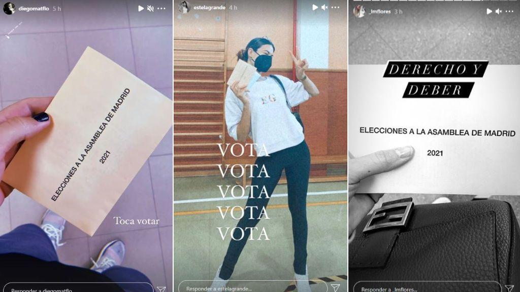 Diego Matamoros, Estela Grande y Laura Matamoros han acudido a votar