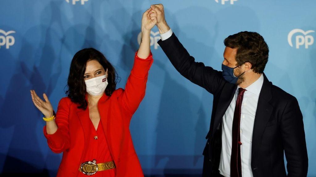 Últimas noticias sobre las elecciones de Madrid: Ayuso arrasa y batacazo del PSOE con el 50% escrutado