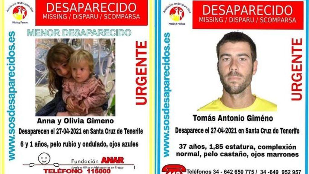 Amplían la búsqueda del padre y las dos niñas al sur de Tenerife y a La Gomera