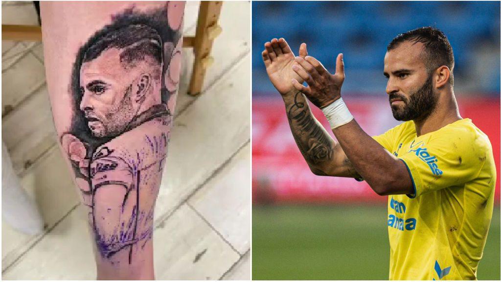 Locura en Las Palmas con Jesé Rodríguez: un aficionado se tatúa su cara en medios de los rumores por su renovación