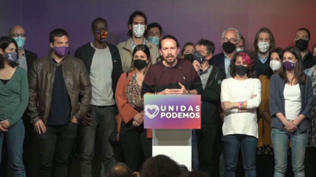 Pablo Iglesias anuncia que abandona la política tras los resultados del 4M