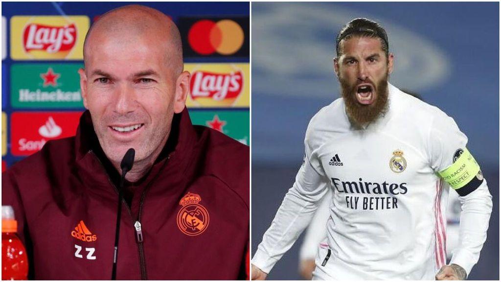 """Zidane, sobre el regreso de Sergio Ramos: """"Está bien y preparado para jugar"""""""
