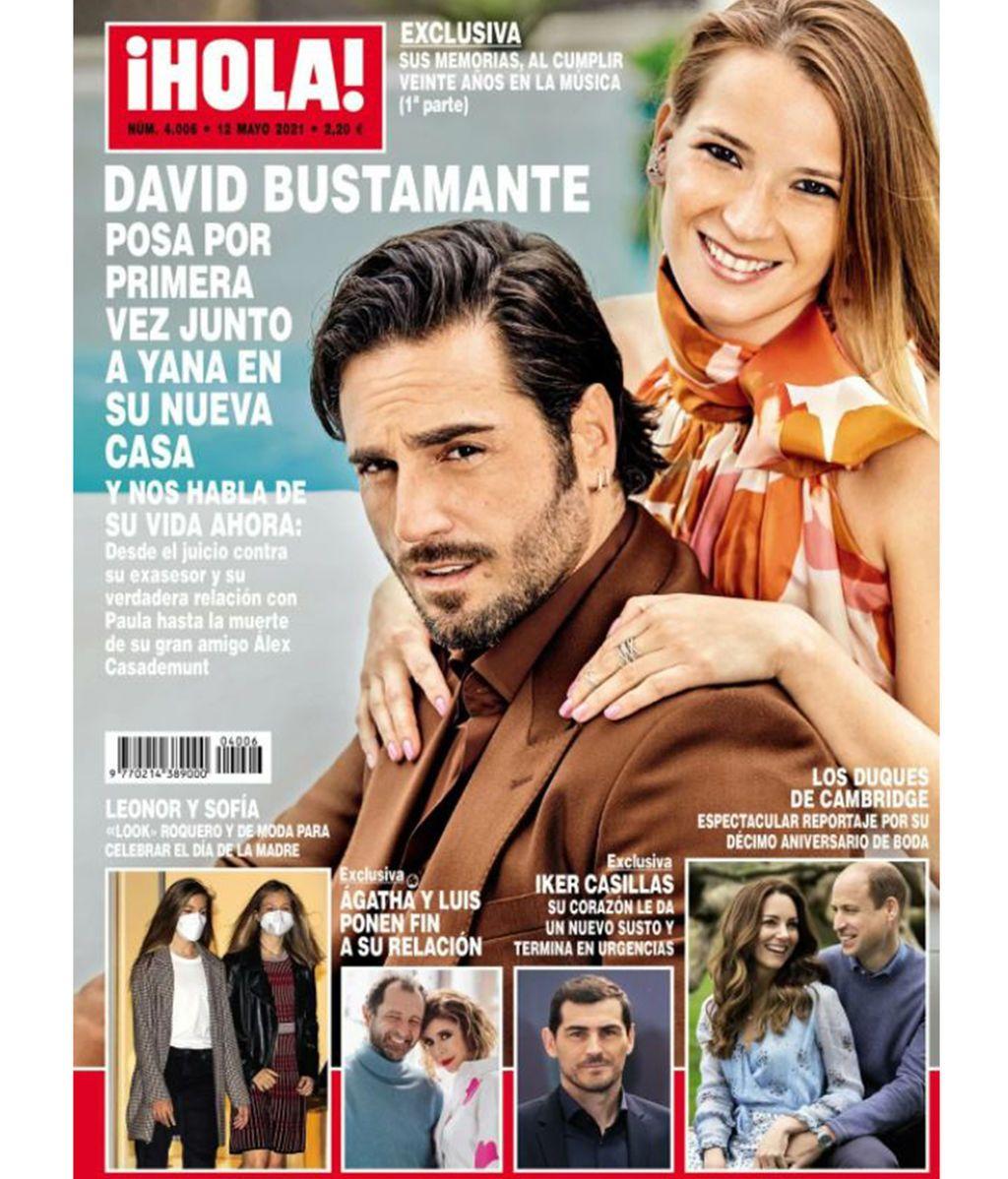 David Bustamante y Yana Olina, en la portada de la revista '¡Hola!'