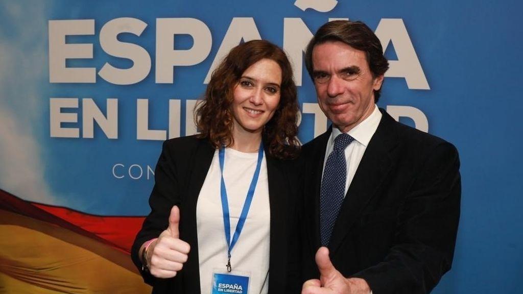 """Aznar bendice a Isabel Díaz Ayuso: """"Es una gran esperanza para todos"""""""