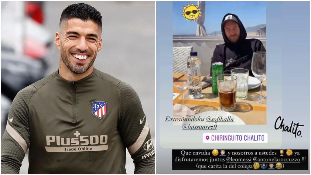 El mensaje de Luis Suárez a Messi en redes.