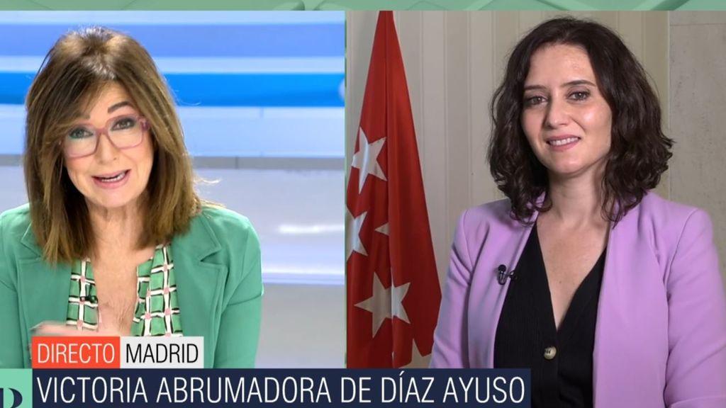 Ayuso se pronuncia sobre prolongar el estado de alarma en Madrid