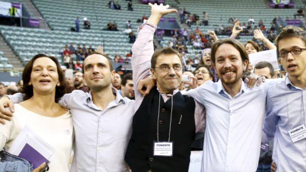 De la foto de Vistalegre ya solo queda Errejón: así han reaccionado al adiós de Iglesias