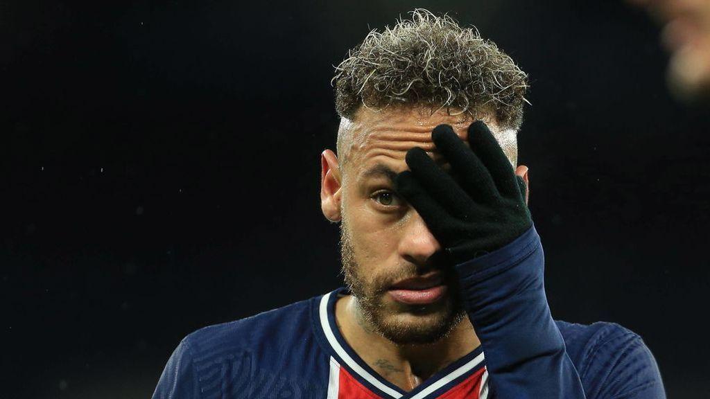 Neymar, en el partido de Champions ante el Manchester City