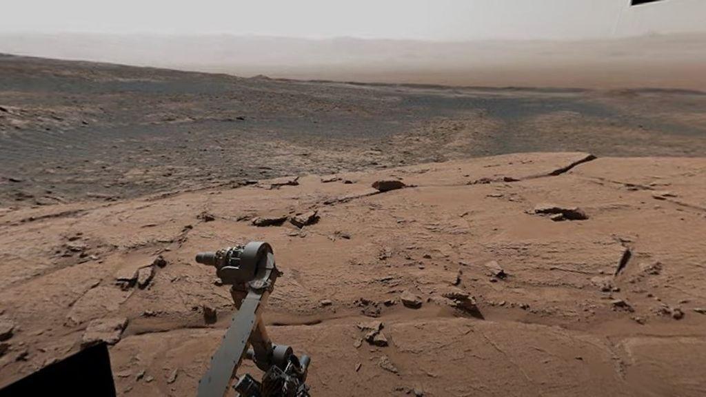 Vista panorámica de Marte desde el Mont Mercou: esto es lo que ve el rover Curiosity