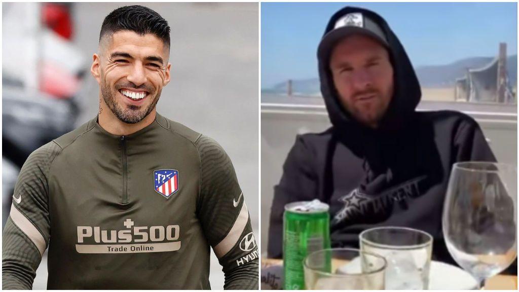 Luis Suárez bromeó con Messi en sus redes sociales.