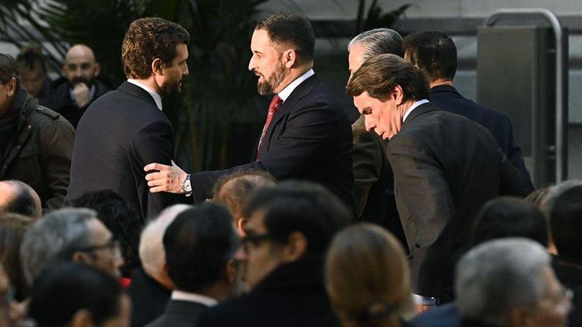 """Aznar llama a Iglesias """"depredador democrático"""", y aconseja a Casado """"no derrotar"""" a Vox"""