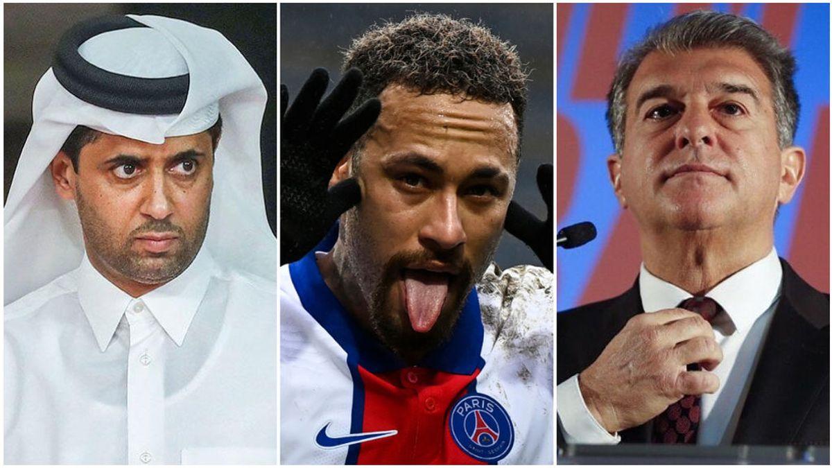 """Al-Khelaifi manda un mensaje al Barça tras el 'coqueteo' con Neymar: """"Dejadle tranquilo"""""""