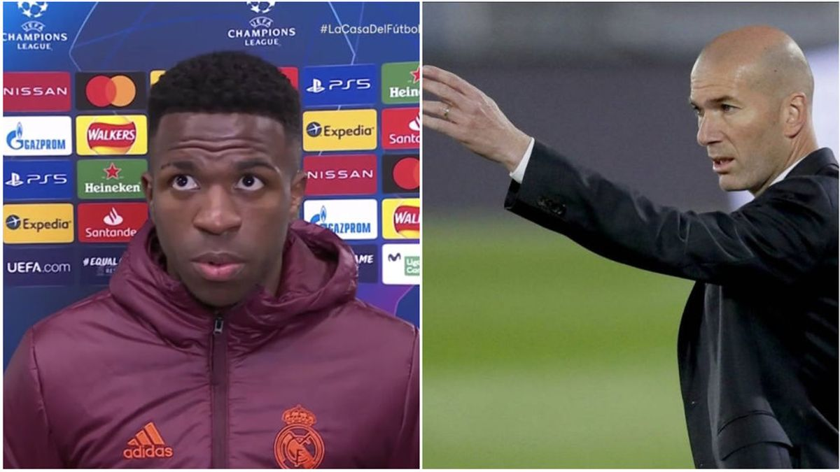"""Zidane explicó la posición de Vinicius que no se terminó de entender: """"Lo ha hecho bien"""""""