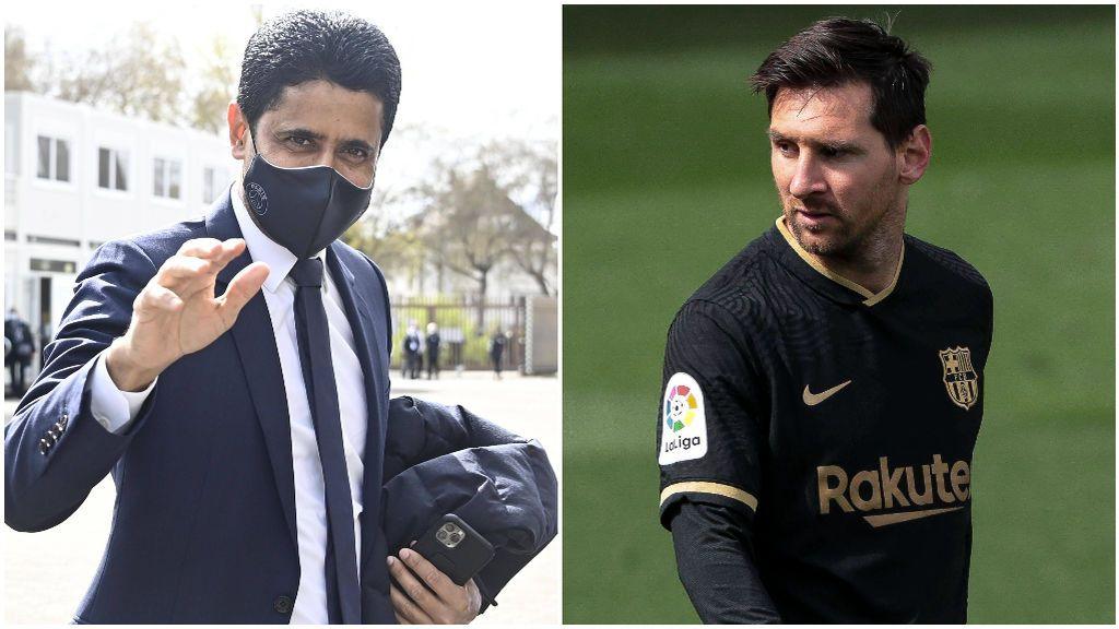 Al Khelaifi quiere juntar a Messi y Neymar en París.