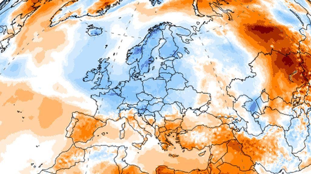 Reino Unido se cubre de nieve mientras el calor repunta en España