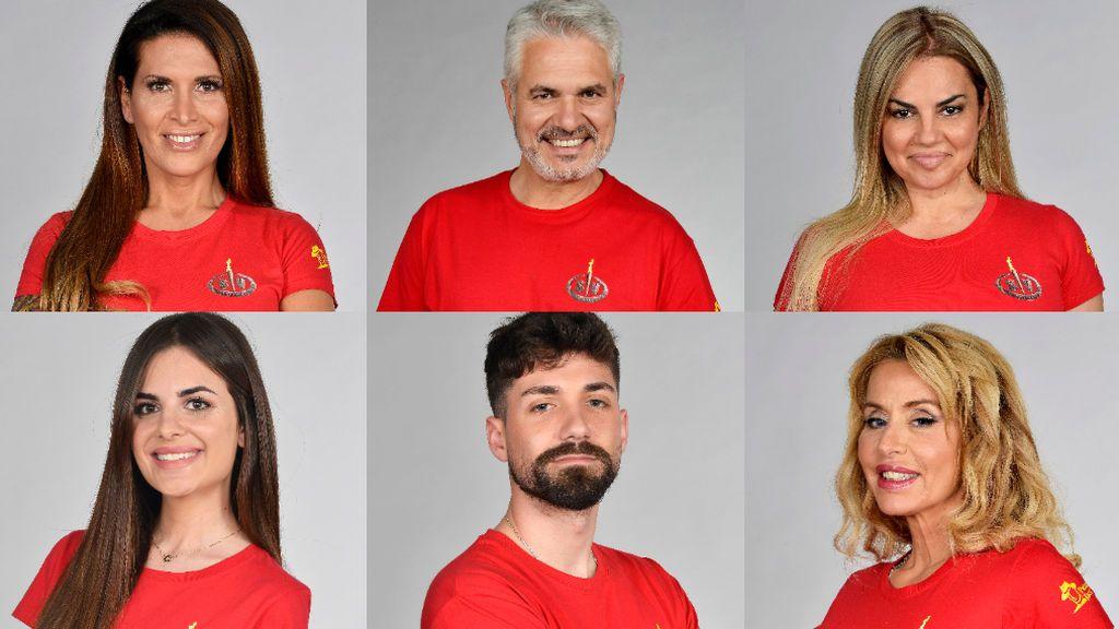 Lara, Agustín, Sylvia, Alexia, Alejandro y Valeria, nominados de 'Supervivientes 2021'