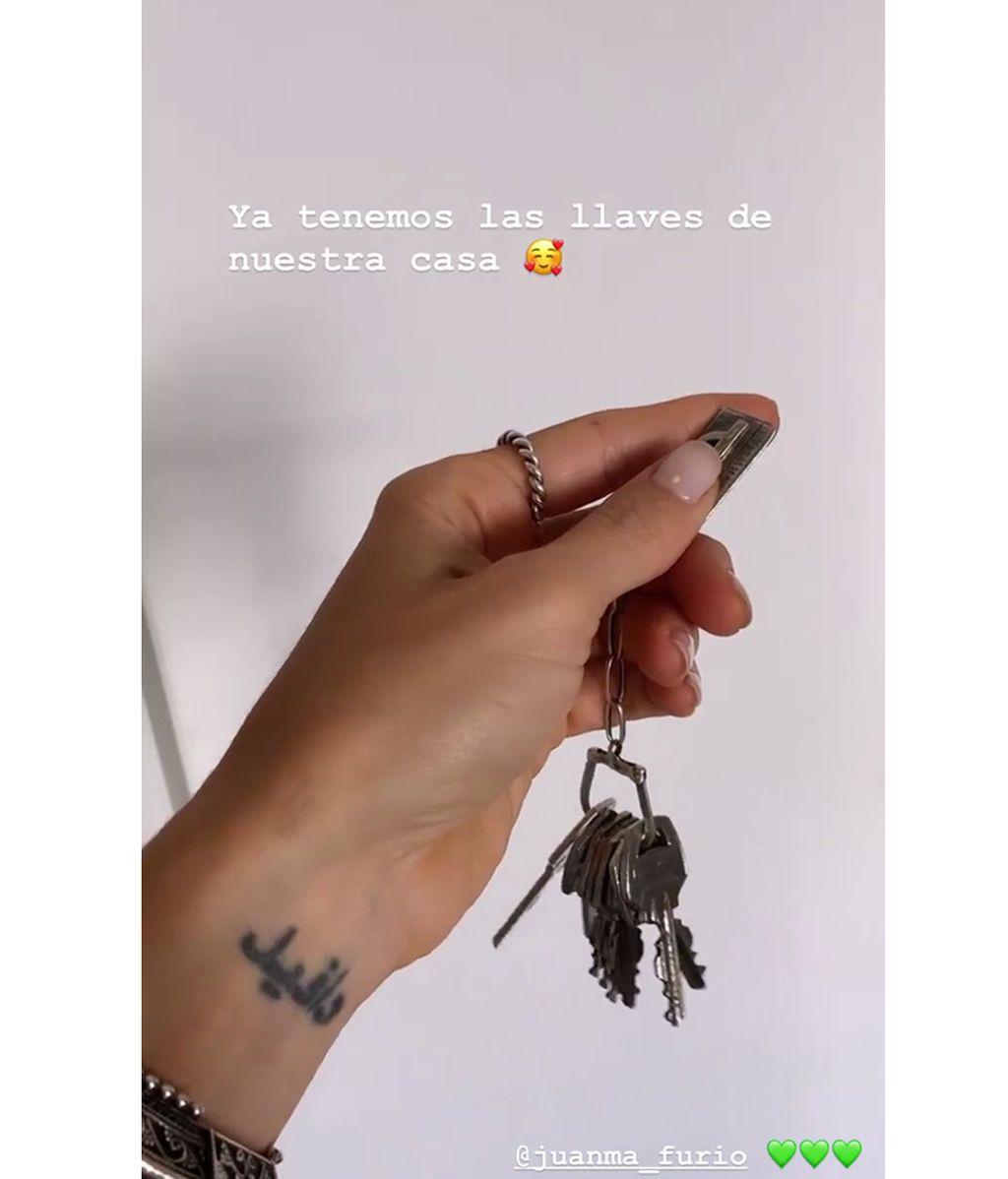 Las llaves del nuevo hogar de Juanma y Azahara