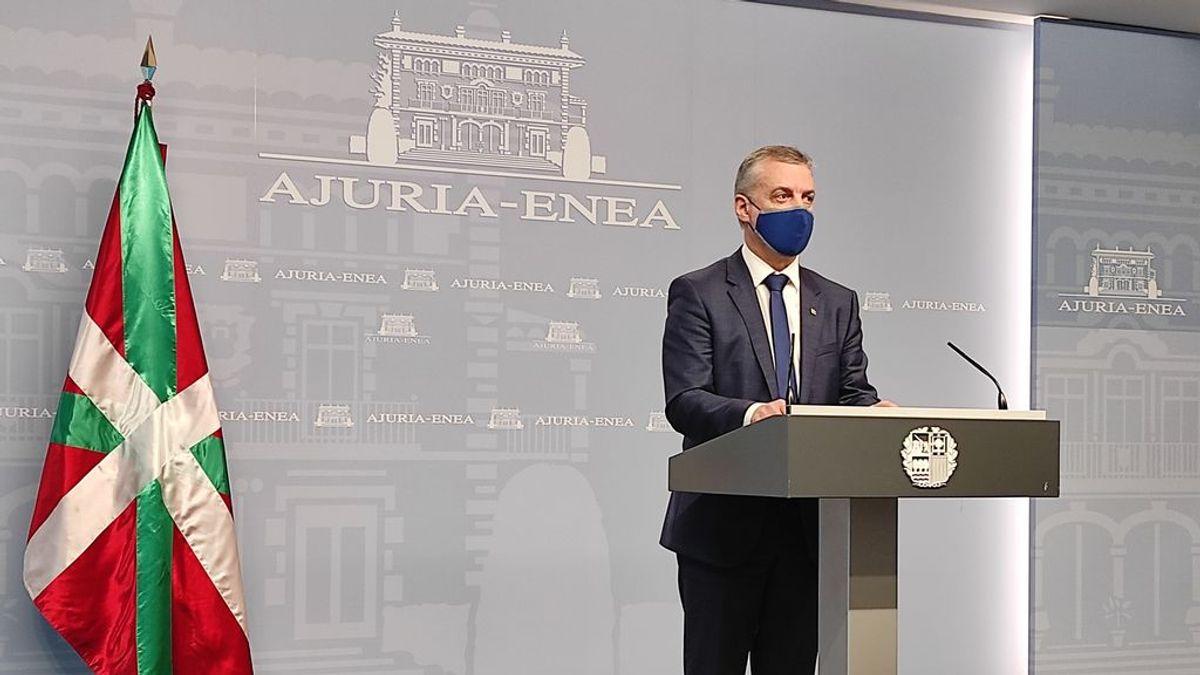 borrador. El lehendakari, sin apoyo de la justicia, renuncia a cerrar Euskadi y a mantener el toque de queda