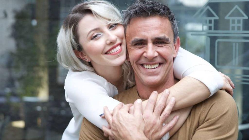 Alonso Caparrós, con su hija Claudia