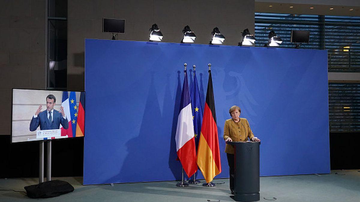 """Macron """"completamente a favor"""" y Merkel """"en contra"""" de la cesión de patentes de las vacunas"""
