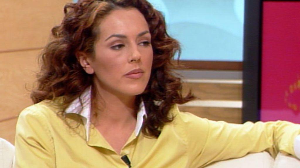 Rocío Carrasco, en el plató de 'Día a día' (2002)
