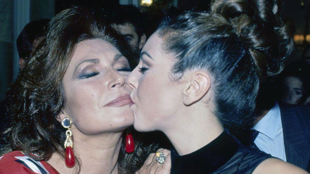 Rocío Carrasco con su madre, Rocío Jurado (1995)