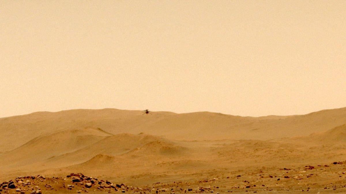 El 'Ingenuity' deja el nido en su quinto vuelo para probar su capacidad para explorar Marte