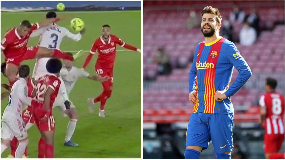 """Piqué se suma a la polémica del penalti en contra al Madrid: """"Hablando se entiende la gente"""""""