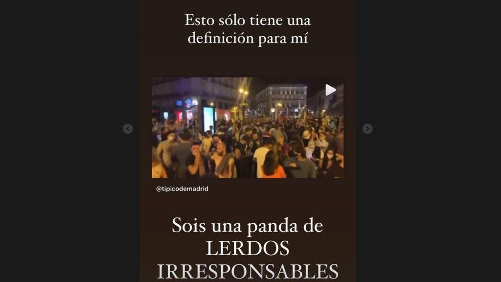 Laura Matamoros reacciona a las celebraciones por el fin del estado de alarma