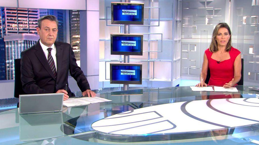 Con José Ribagorda y Ángeles Blanco Informativos Telecinco 2021 Noche 08/05/2021